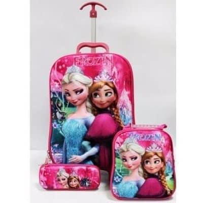 Kids Bags and Backpacks.  3 - 3-in-1-Frozen-Trolley-School