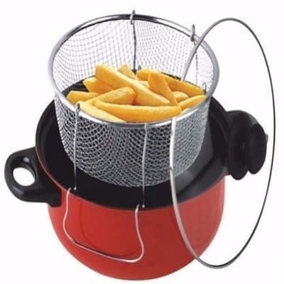 3-in-1 Non-stick Deep Fryer with Frying Basket-Premium Quality.
