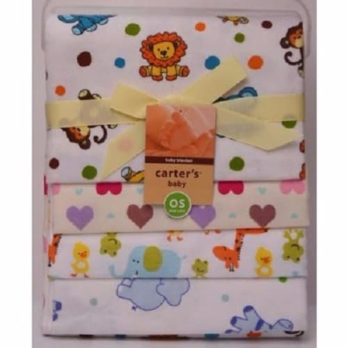 3f8e8ab6ba Carter s 4-In-1 Pack Baby Receiving Blankets