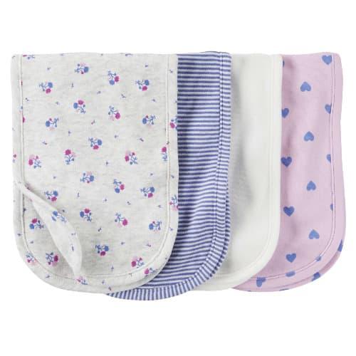 Carter S 4 Pack Burp Cloths Purple Multicolour Konga Online Shopping