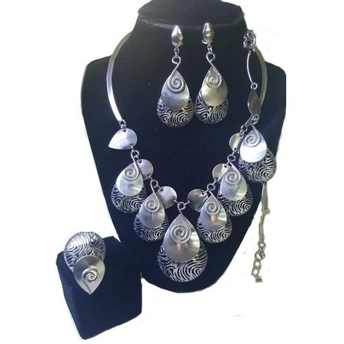 /4/-/4-Pcs-Chunky-Drop-Jewellery-Set---Silver--6526432_1.jpg