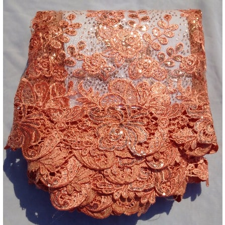 /4/-/4-Yards-Sequin-Sample-Lace---Peach-5805487.jpg