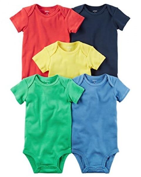 6bdc3eb53 Carter's 5 Pack Short Sleeve Original Bodysuits, multicolor | Konga ...