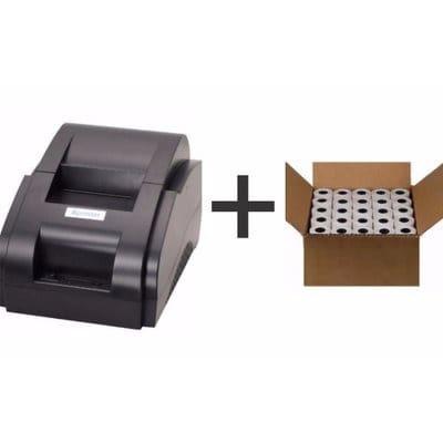 58mm POS Thermal Receipt Printer + Thermal Receipt Printer Paper - 100 Rolls