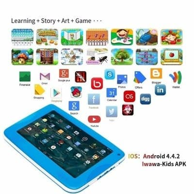 7 Inch Kids Educational Tablet PC + Case + OTG Cable