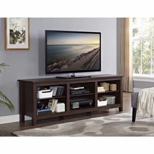 Handys 70 Inch Wood Media Tv Stand Storage Console Brown Konga