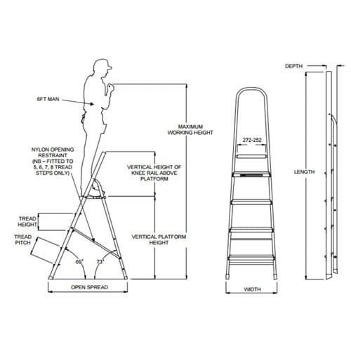 8-Step Platform Step Ladder