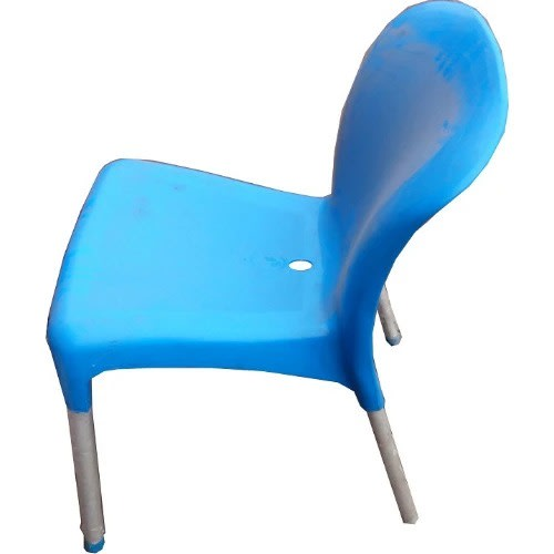 Armless Iron Leg Plastic Chair