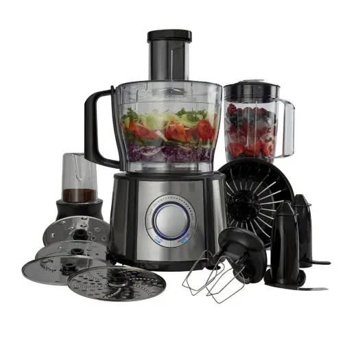 Food Processor Blender Multifunctional Kitchen Chopper With 2 4L Mixer Bowl  - 1 5L Blender