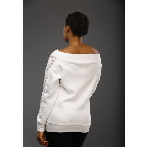 6ab1720e9da94d ...  A D ADOT-Ladies-White-Off-Shoulder-Top
