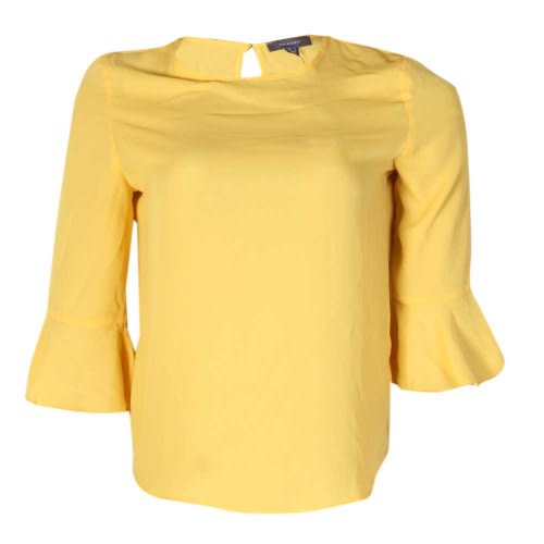 20cd63d6b804f3 Primark Round Neck Blouse With Bell Sleeve - Yellow | Konga Online ...
