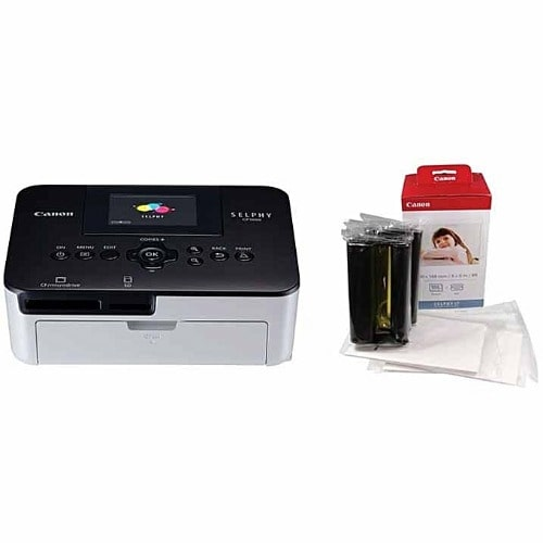 Canon Selphy Cp1000 Photo Printer & Selphy Paper/ink Set Combo