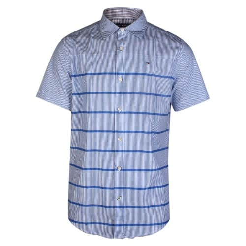 ee2e43bf Tommy Hilfiger Stripes Logo Shirt - Blue | Konga Online Shopping