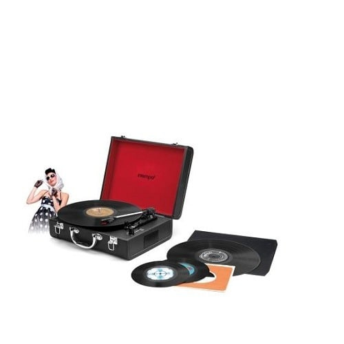 Home Bluetooth Turntable With In Built Speaker- Black