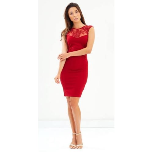 b46a7082e666 Lipsy London Sequin Yoke Bodycon Dress | Konga Online Shopping