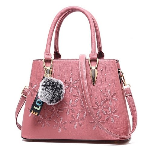 Flower Pattern Luxury Handbags - Pink