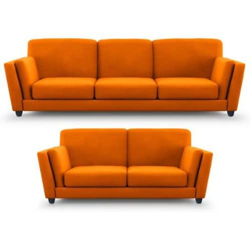 Harry 2 Piece Sofa Set - Orange