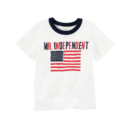 Mr Independent Jersey Tee - White