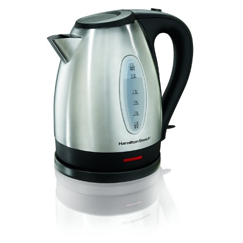 Stainless Steel Electric Kettle, 1.7-liter, Silver