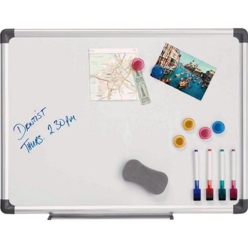 Magnetic White Marker Board 3ft By 4ft + Accessories.