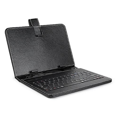 "8"" Black PU Custom Tablet Keyboard Protective Case For Smartphone With Micro Usb"