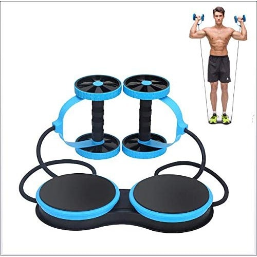 Multi-function Rotating Abdominal Wheel for Exercise - Blue