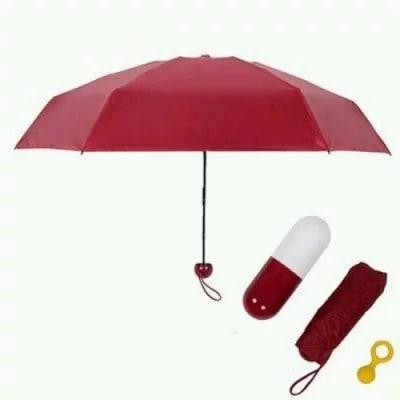 Capsule Style Portable Umbrella - Multicolour
