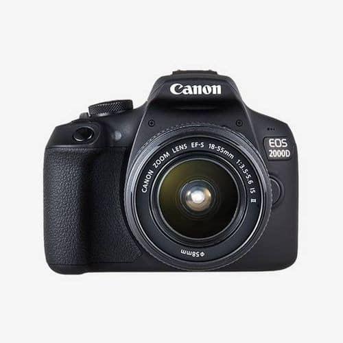 Eos 2000d + Ef-s 18-55mm 1:3.5-5.6 Is Ii Kit, Black, Wifi Enabled Dslr Camera