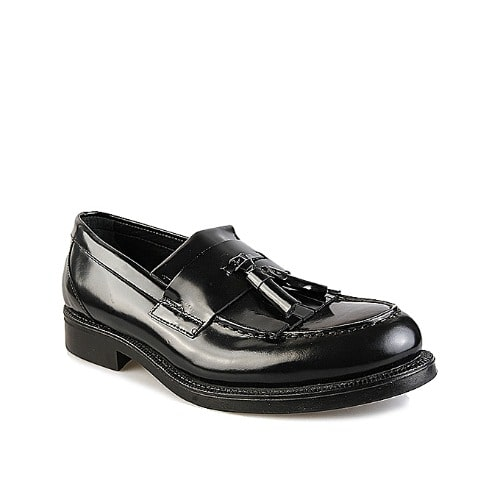 Leather Dress Shoe With Tassels - Black
