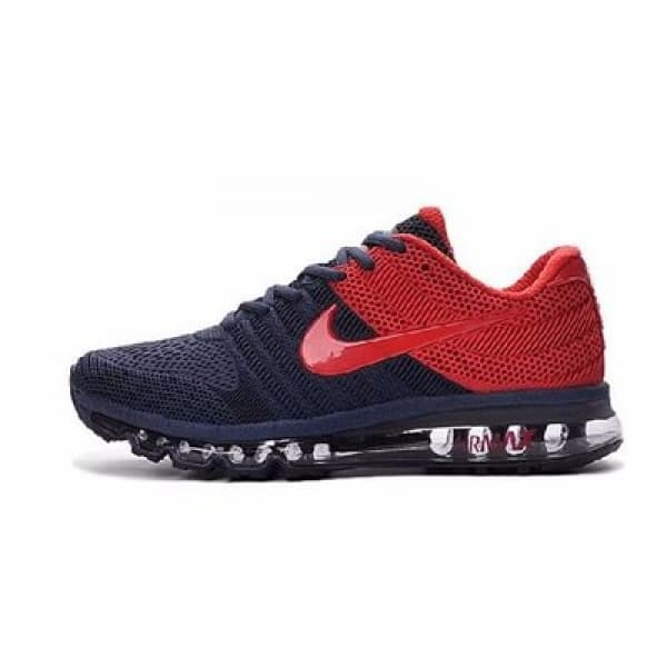 Nike Airmax 2017 Model Running Shoes - Navy Blue   Red  2e27193f366f
