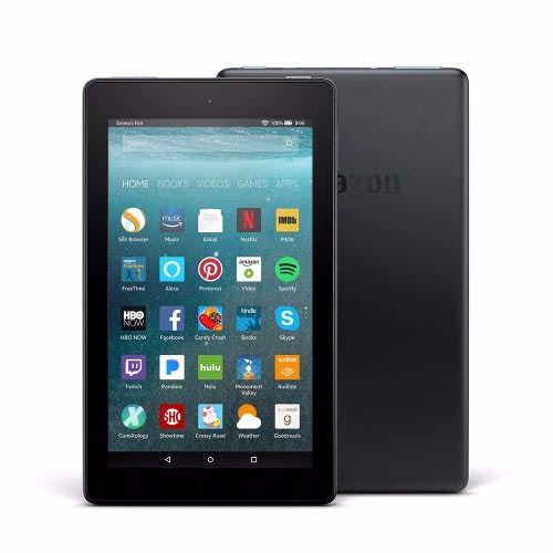 All-New Fire 7 Tablet with Alexa, 7-inch Display, 8 GB - Black with Special Offers