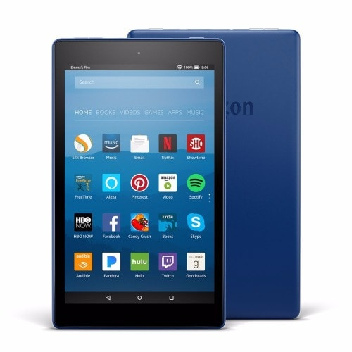All-New Fire HD 8 Tablet with Alexa, 8 inch display,16 GB - Marine Blue-with Special Offers
