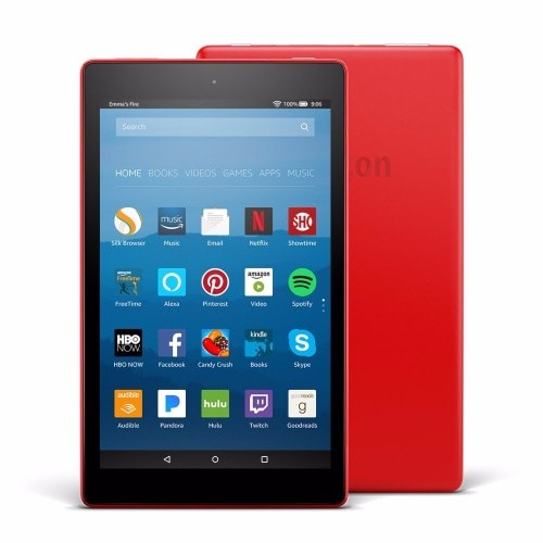All-New Fire HD 8 Tablet with Alexa, 8 inch display, 16 GB - Punch Red with Special Offers