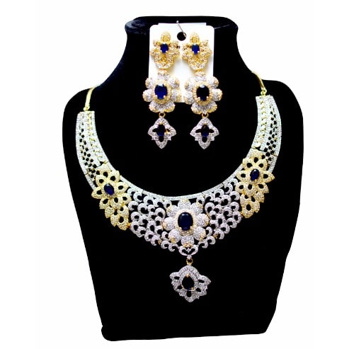 American Diamond Jewellery Set Multicolour Konga Online Shopping