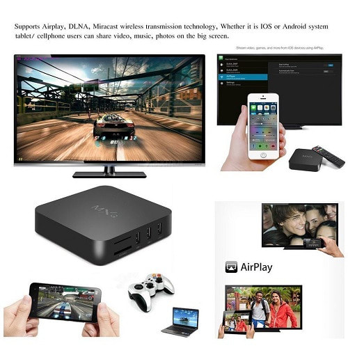 Android 4 4 Smart Internet TV Box + Free Airmouse