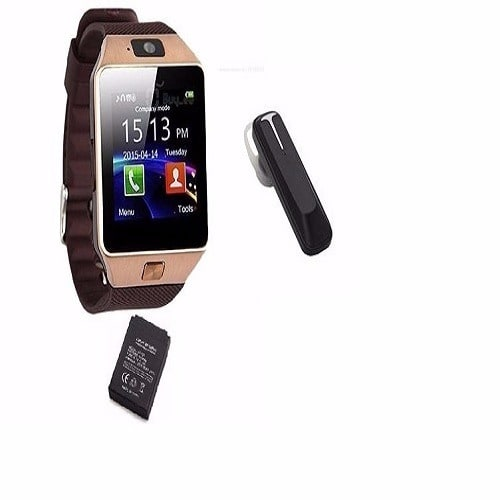 12f26979a7b Android Smart Watch DZ09 + Bluetooth Headset & Free Extra Battery ...