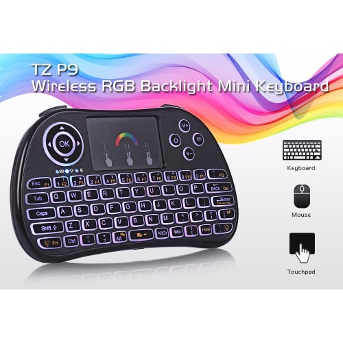 1fc2f486abd Android TV Box-Mini Wireless Keyboard Air Mouse with Backlit Remote ...