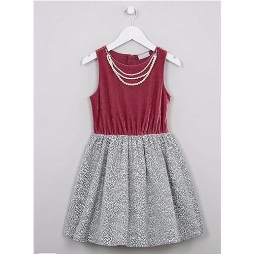 3fc4650d8 Angel Boho Girls Velvet Pearl Necklace Dress
