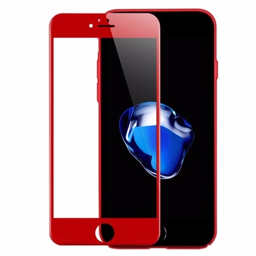 half off d7c64 f244c Apple iPhone 8 Plus Full 3d Tempered Glass Screen Protector - Red