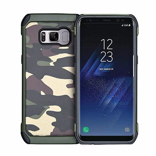 cda6785480 Army Camouflage PC+TPU Shockproof Back Case For Samsung Galaxy S8 ...