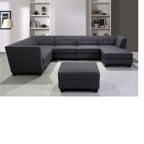 Clayton Grey Sectional Sofa Set.