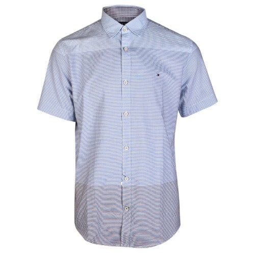 online retailer c01a3 b9562 Striped Short Sleeve Shirt - Blue