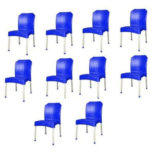 10 Pieces Of Basket Plastic Iron Legs Chairs
