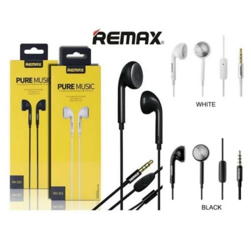 Pure Music/ Bass Booster Rm 303 Stereo Earphones With Mic