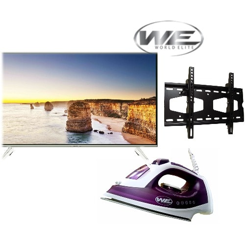 "32"" LED TV With Free Wall Bracket + 2000w Non-stick Steam Iron"