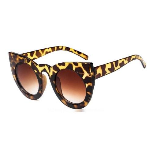 5da4b1cad232 Women's Cat Eye Retro Oversize Sunglasses - Animal Print   Konga ...
