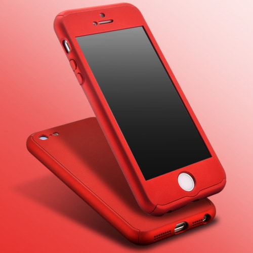 sale retailer 145d3 61eed Iphone 6/7/8 360 Case - 360 Degree Full Body Cover -red