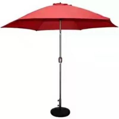 Marfton Outdoor Garden Parasol Centre - Pole Umbrella - Dark Red