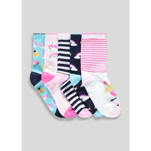 146a235f9788 Matalan Girls 5 Pack Unicorn Socks | Konga Online Shopping