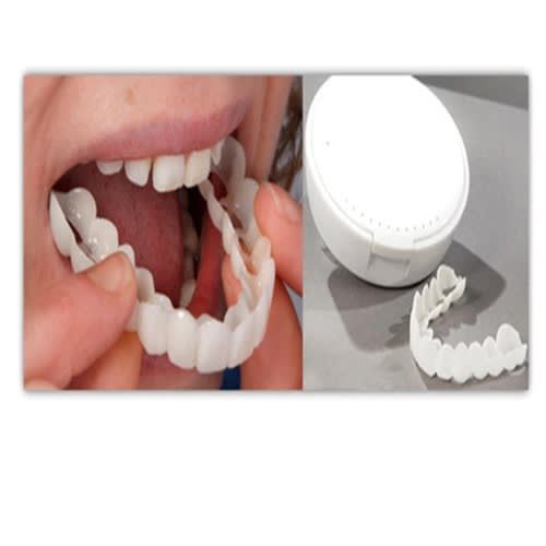 Snap-on Smile Teeth Whitening Instant Smile Denture Care